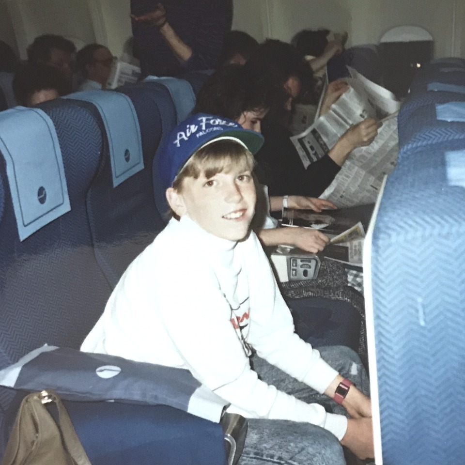 Headed to Russia via Finland on Finnair (1989)