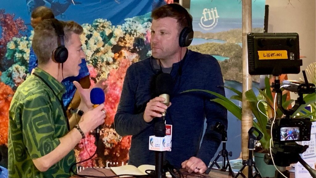 Aaron Schlein of Family Travel Radio with Jonathan Reap of Tourism Fiji