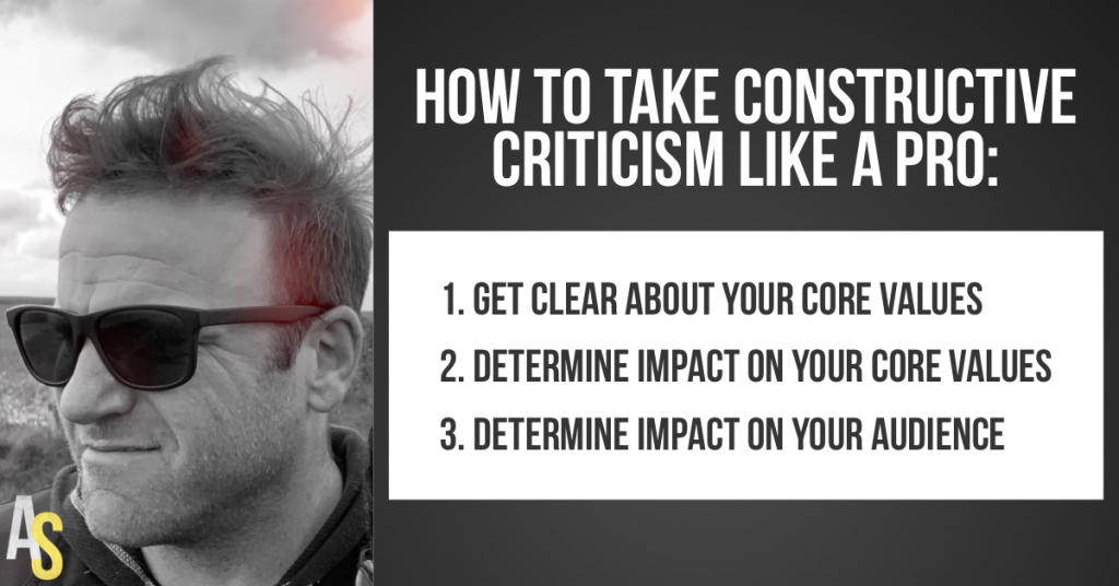 Taking constructive criticism - Aaron Schlein - Blog - Entrepreneurship