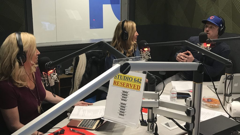Aaron Schlein - On the air with Trip Sisters Colleen Kelly and Catie Keogh - AaronSchlein.com