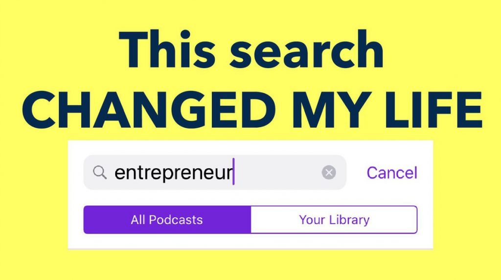 Apple Aaron Schlein - Apple Podcasts Search - This search change my life